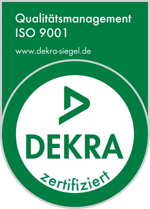 Dekra Siegel Qualitätsmanagement ISO 9001